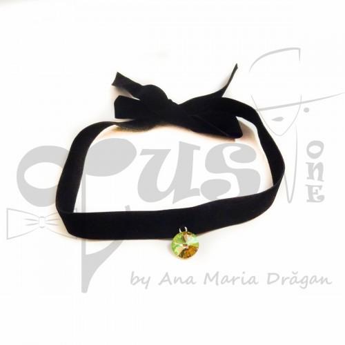 Choker negru cu banda catifea