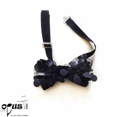 Papion negru catifea dark