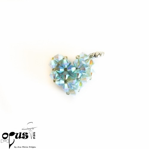 Pandantiv inima albastra