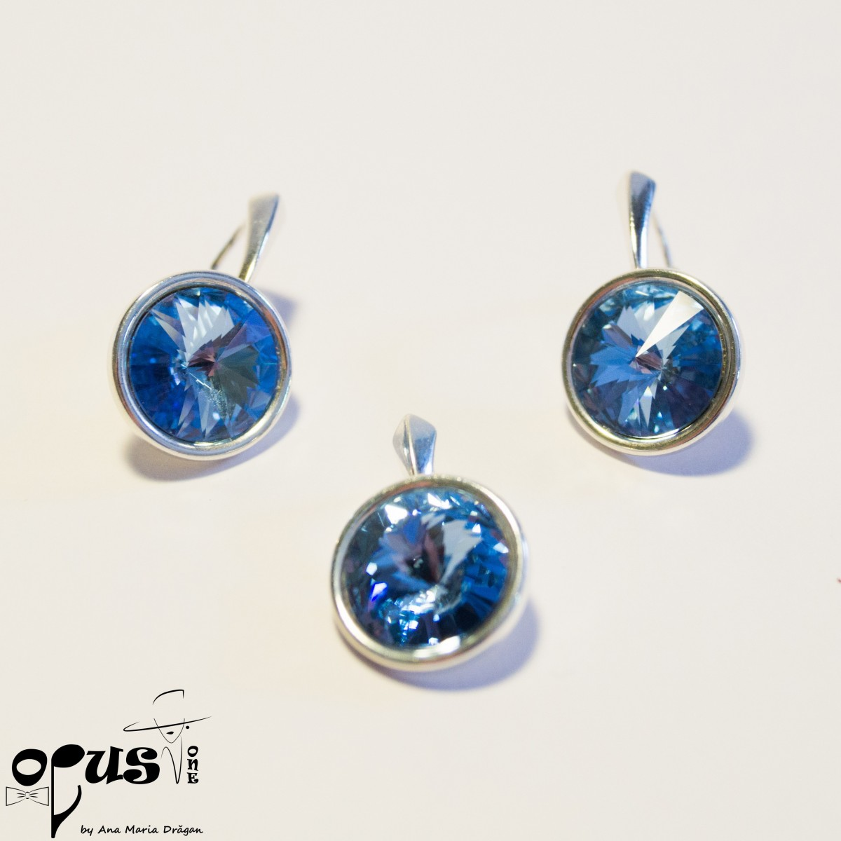 Set Bijuterii Blue Rivoli Love