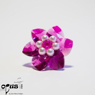 Inel Fuchsia Flower