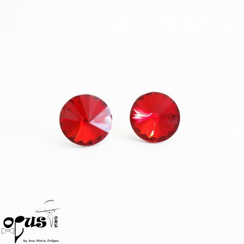 Cercei Rivoli Red 12 mm