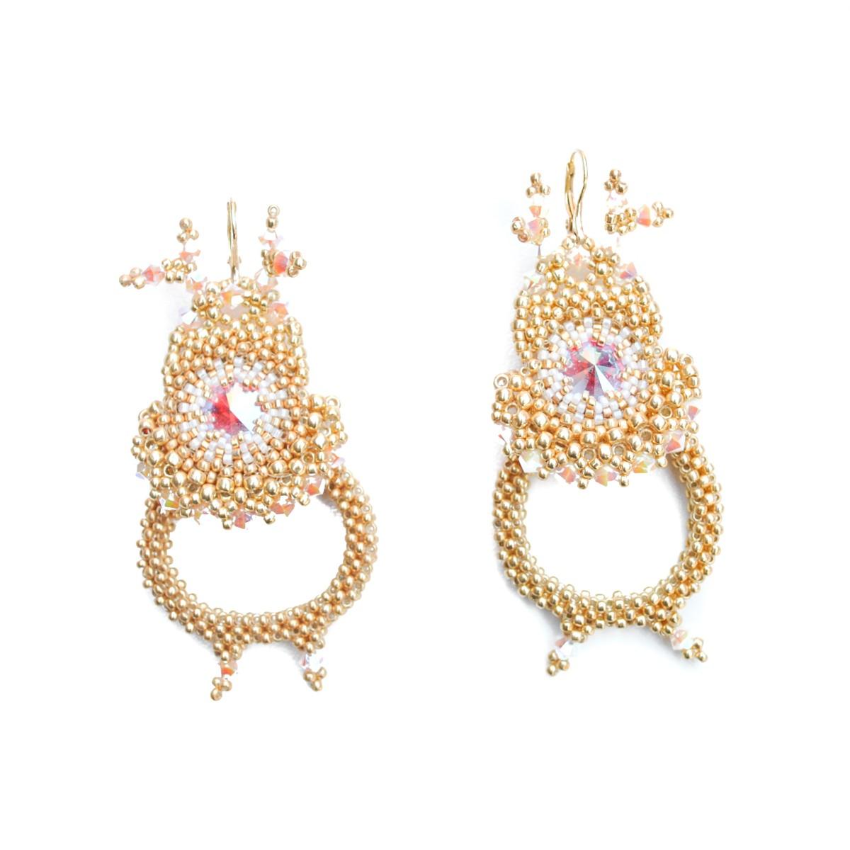 Cercei aurii Lovely Reindeer