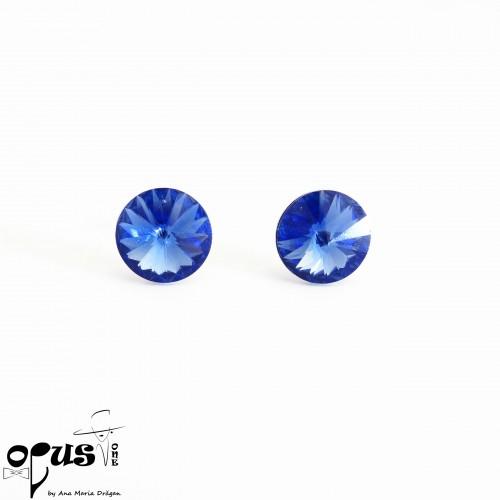 Cercei Rivoli Sapphire 12 mm