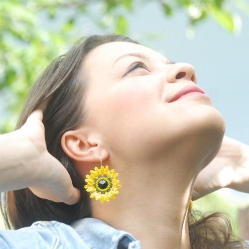 cercei floarea soarelui