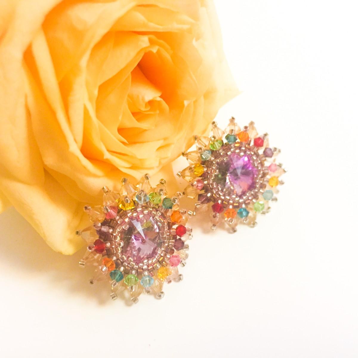 Cercei Flower Love Color