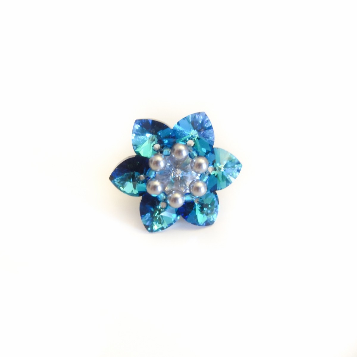 Inel Flower Bermuda Blue