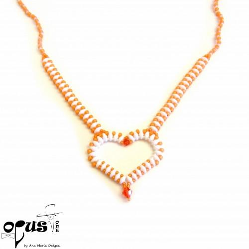 Colier Orange Heart