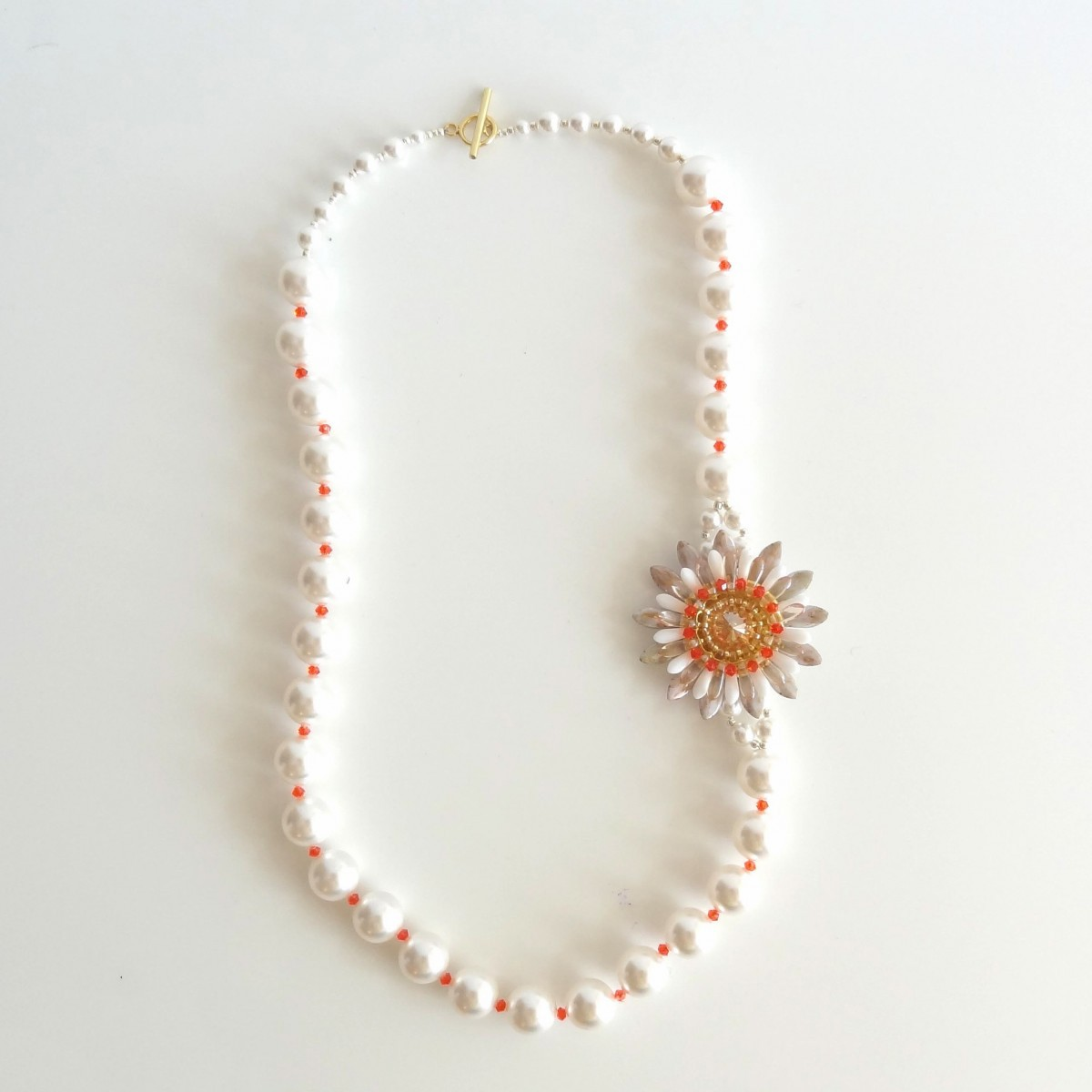 Colier Flower Pearl