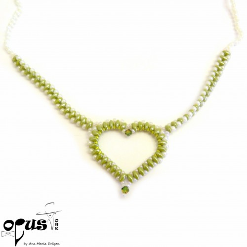 Colier Green Heart