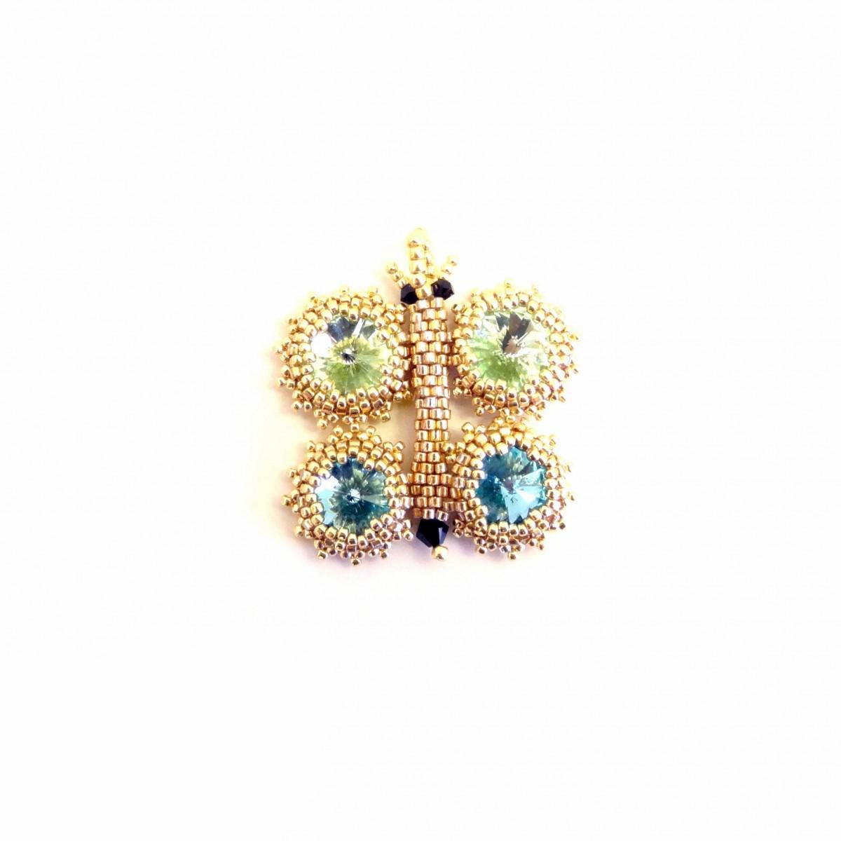 Pandantiv Fluture cu cristale swarovski