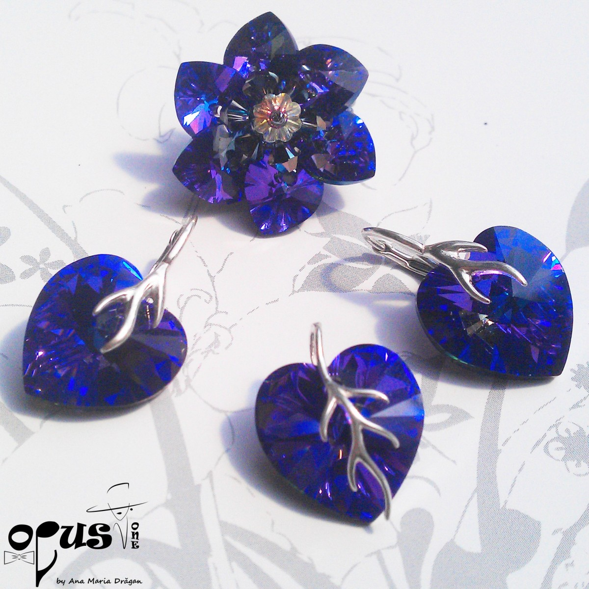 Set Bijuterii Heart Dream Purple