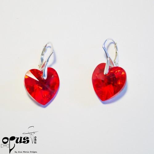Cercei Heart Red Light Siam
