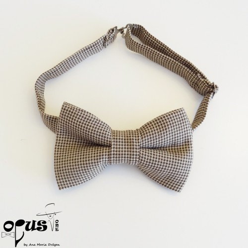 Papion Pre-Tied Clasic Brown Dots