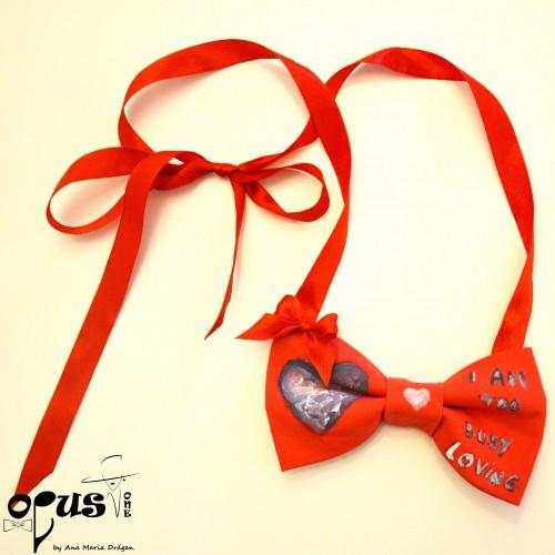 Papion Rosu Valentine Art