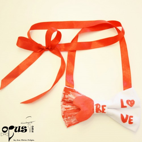 Papion Rosu Valentine Be Love