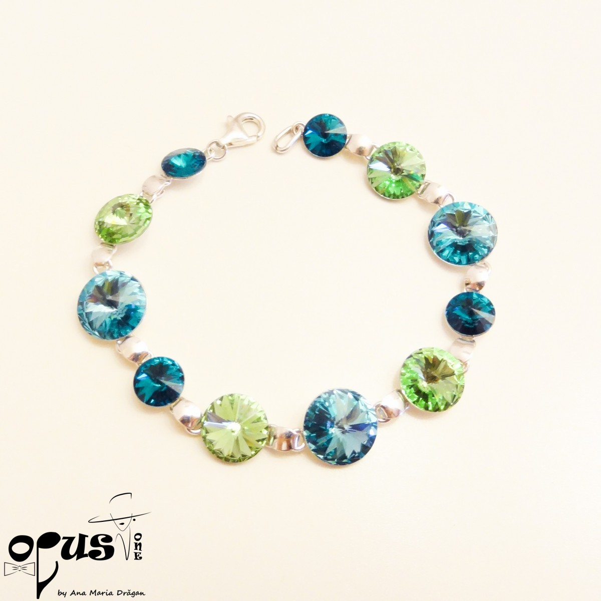 Bratara Rivoli Blue Green - Amadeus