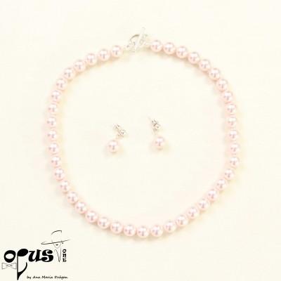 Set Roz cu perle