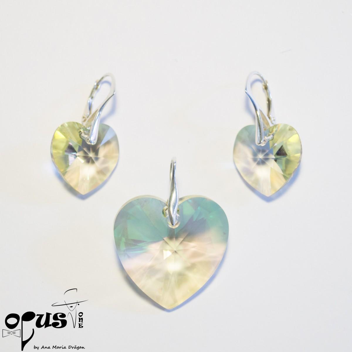 Set Bijuterii Heart Dream Luminous Green