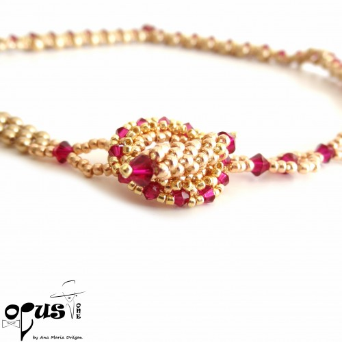 Set Bijuterii Golden Love Pearls