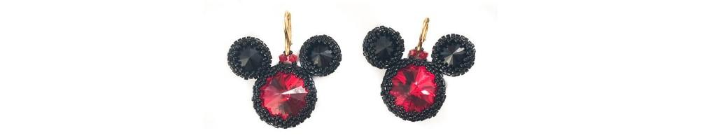Colectie de bijuterii si accesorii Mickey Mouse realizate manual